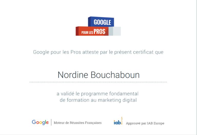 MOOC & Certification Digital Marketing Google